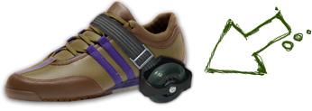 Jednoduché nasazení na jakékoliv běžné boty Kolečka na boty 6b94a68984